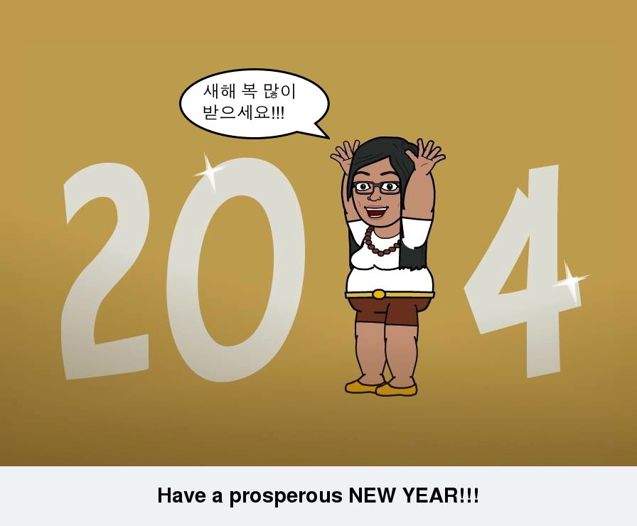 New year greeting it started with hangul new year 2014 m4hsunfo Gallery